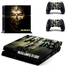 Walking Dead PS4 çıkartmalar PlayStation 4 cilt Sticker oyun çıkartmaları PlayStation 4 için PS4 konsolu ve denetleyici Skins vinil