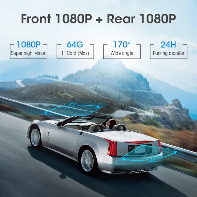 Jansite 10 inch Mirror Car DVR Streaming Media Full Screen Car Camera dash cam 1080P rear view camera Parking Monitor recorder 1