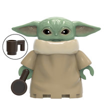 Il Mandalorian Figure mini Yoda Bambino Rey Guerriero Jango Boba Fett Cavalieri di Ren Darth Vader Sith Trooper Building Blocks giocattoli(China)