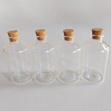 60ml Large decorative glass bottles wish vials 40*75mm home clear Condiment storage 30pcs/lot