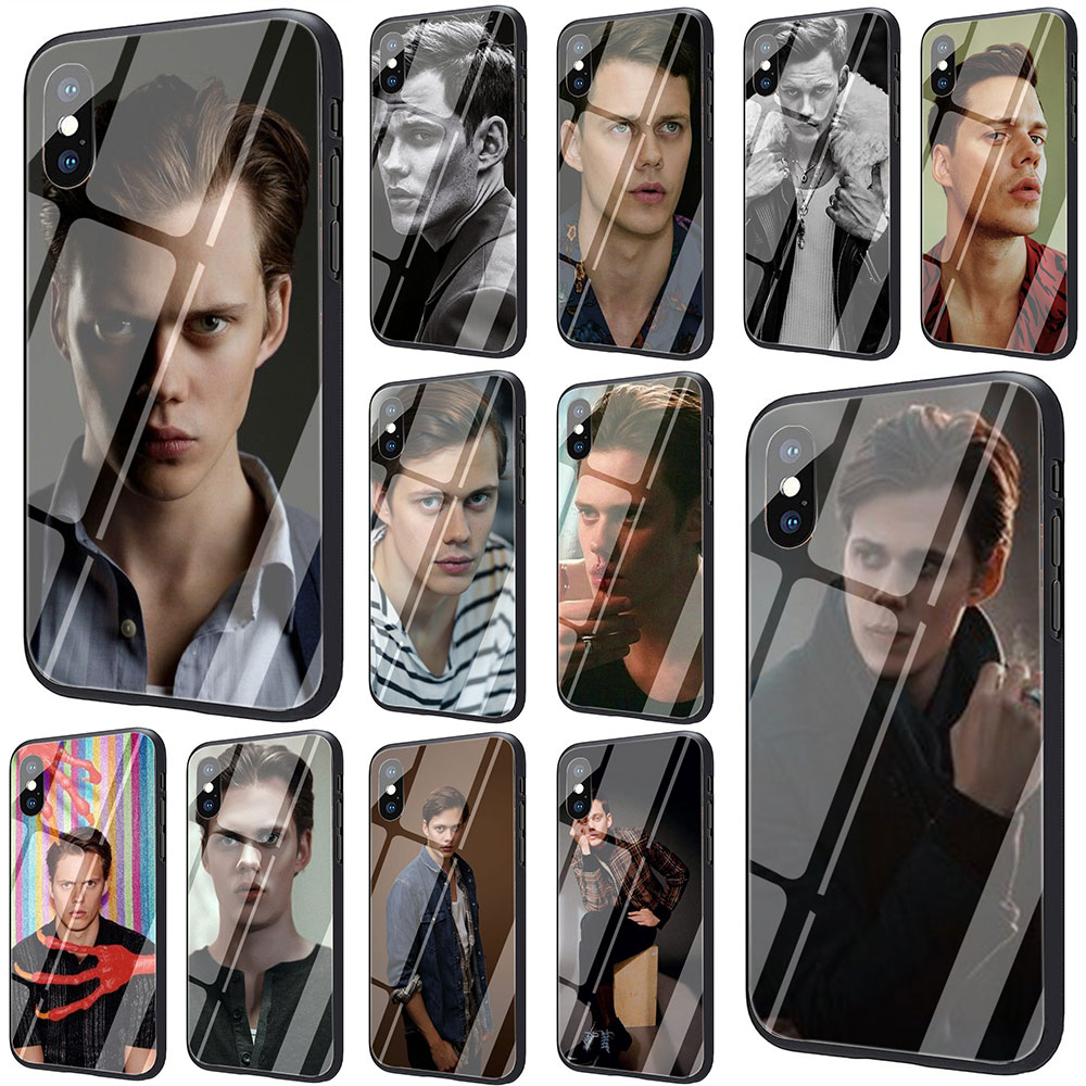 <font><b>Bill</b></font> <font><b>Skarsgard</b></font> Tempered Glass Phone Cover Case for iphone 5 5S 6 6S Plus 7 8 Plus X XS XR 11 Pro Max image