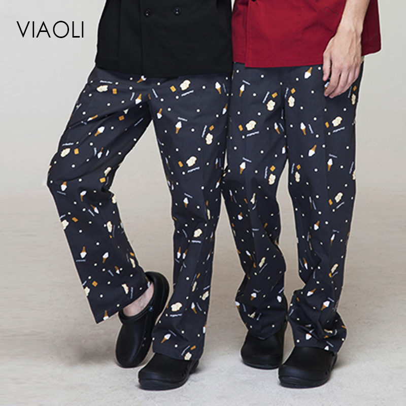 VIAOLI New High Quality hotel uniform pant chef work clothes restaurant trousers chef uniform chinese clothes for men chef pants