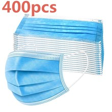 200 / 400pcs Men And Women Elastic Hanging Breathable Sanitary Mask Disposable Gauze Sanitary Mask 3 Layer Filter Anti-pollution