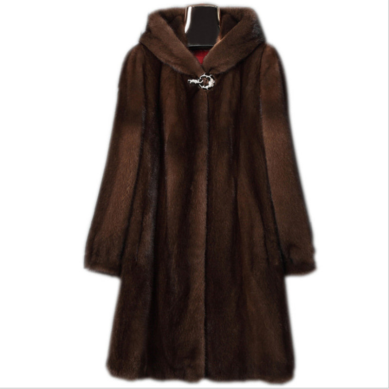 2020 Large Size 8XL=56 9XL=58 <font><b>Faux</b></font> <font><b>Fur</b></font> <font><b>Coat</b></font> Women Winter Thick Warm Overcoat Imitation <font><b>Fur</b></font> Hooded <font><b>Mink</b></font> <font><b>Coat</b></font> Hooded Jackets v1195 image