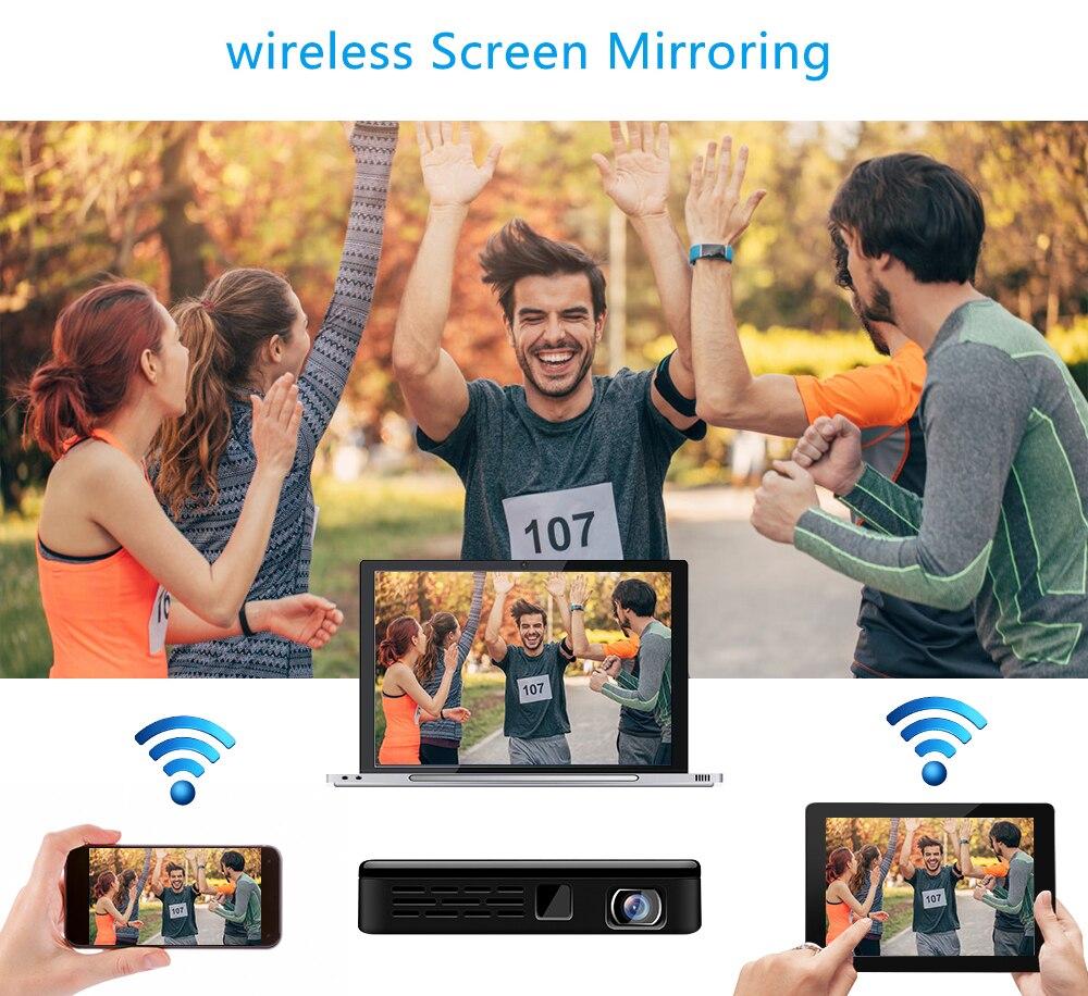 Vivicine prend en charge le Mini projecteur 4 K, batterie 4000 mAh, prend en charge le projecteur vidéo de projecteur Mobile portable Miracast Airplay - 5