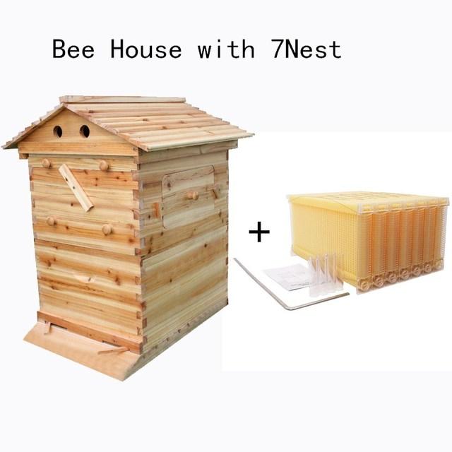 Caja de madera automática para colmena de abejas, equipo de apicultura, herramienta de apicultura para suministro de colmena de abejas, 66*43*26cm, alta calidad