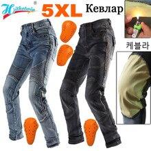 5XL 4XL 3XL 2XL mężczyźni aramidowe motocyklowe jeansy Moto spodnie odzież ochronna jazda Touring ognioodporne i poręczne spodnie motocyklowe
