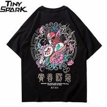 2020 T Shirt Streetwear Uomini il Bene E il Male Della Stampa Hip Hop T Shirt Carattere Cinese Harajuku Maglietta di Cotone A Manica Corta Magliette E Camicette magliette