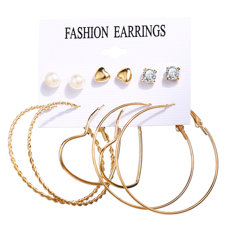 H8150ca26a64f4032ae348d7c7a15700e8 - IF ME Fashion Vintage Gold Pearl Round Circle Drop Earrings Set For Women Girl Large Acrylic Tortoise shell Dangle Ear Jewelry