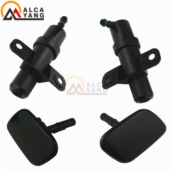 Front Headlight Washer Lift Cylinder Spray Nozzle Jet Cover Cap 98680-2B500 For Hyundai Santa Fe MKII 2009 2010 2011 2012 image