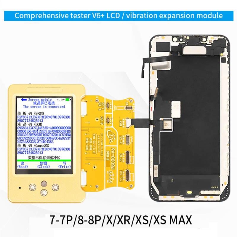 Aletler'ten Elektrikli Alet Setleri'de WL V11 LCD ekran orijinal renk programcı iPhone 11 XR XSMAX XS 8P 8 7P kulaklık/ dokunmatik/pil onarım olarak iyi Qianli iCopy title=