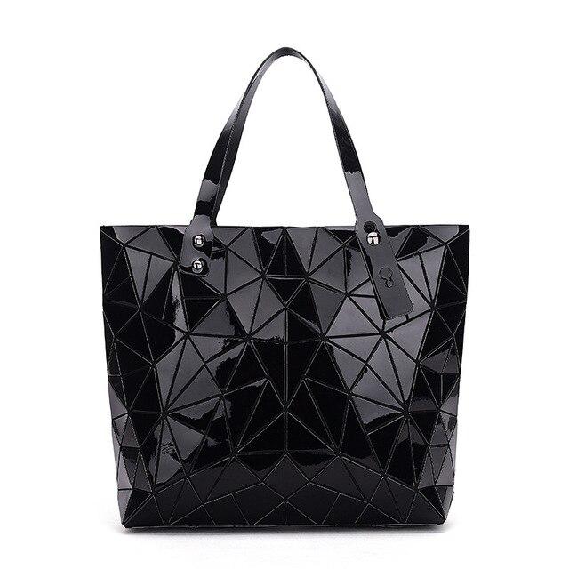 WSYUTUO Handbag Female Folded Ladies Geometric Plaid Bag Fashion Casual Tote Women Handbag Shoulder Bag 1