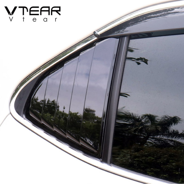 Vtear For Toyota Camry Rear window triangle ABS decoration car-styling cover exterior frame chrome accessories Trim parts 2020 6