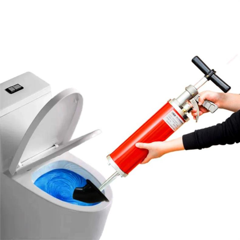 Home High Pressure Toilet Pipe Dredger Manual Drain Pipe Sewer Cleaning Tool
