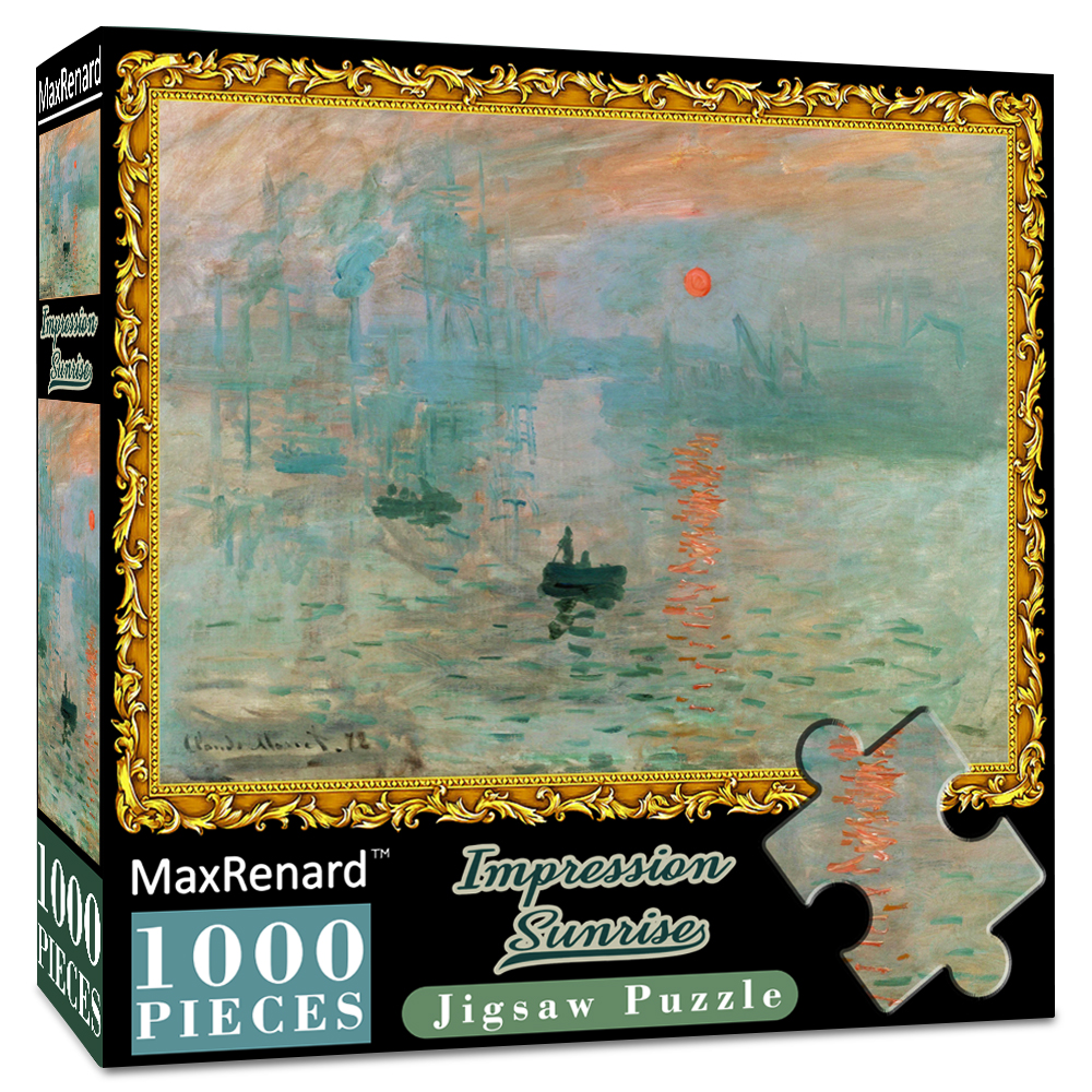 MaxRenard Jigsaw Puzzles 1000 Pieces 50*70cm The Kiss Wooden Assembling Painting World Masterpiece Puzzles Toys for Adults Games 12