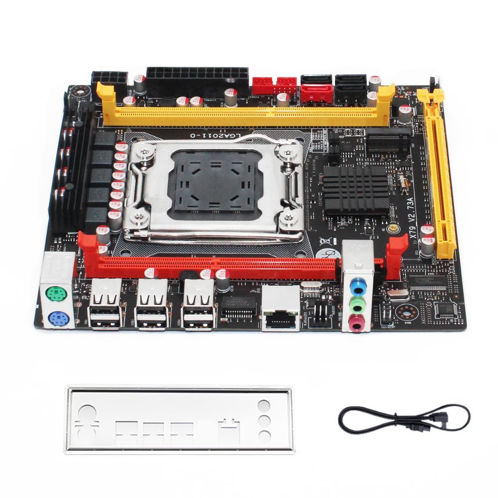 X79 desktop motherboard LGA 2011 set kit with Intel xeon E5 2620 V2 processor and 16G(2*8G) DDR3 RAM mini-itx mainboard X79 V2.7 6