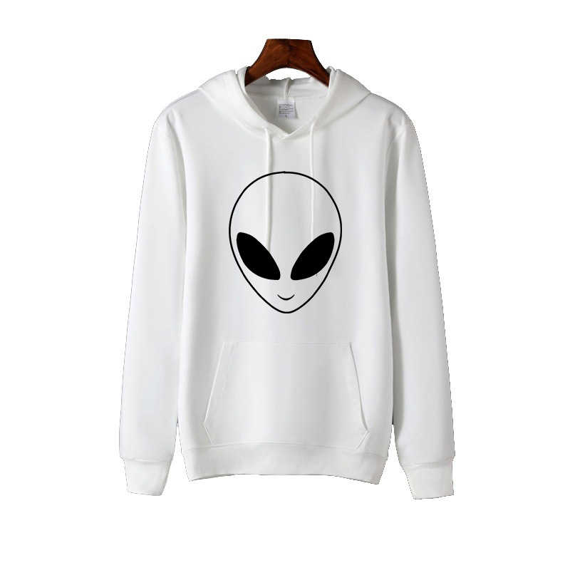 ET Aliens Druck Frauen Hoodies Sweatshirts Langarm Harajuku Mit Kapuze Pullover Frauen Kleidung Feminina Lose Jumper Sweat Warmen