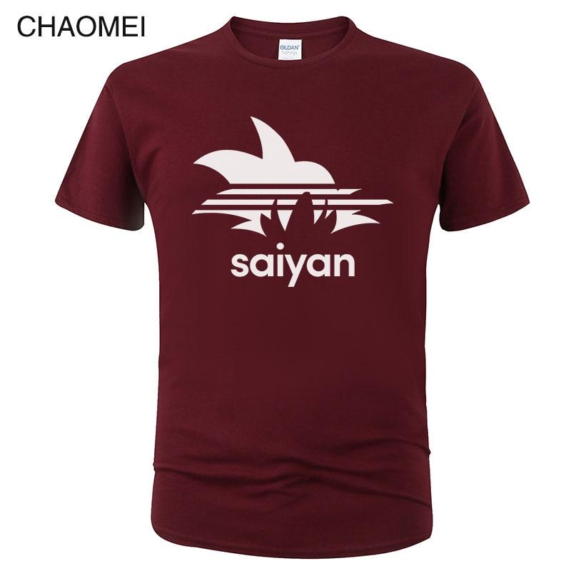 Summer Cotton Super Saiyan T Shirt Men Dragon Ball Z T Shirts 2019 Bodybuilding Evolution T-Shirt Men Tee Unisex Clothes C22