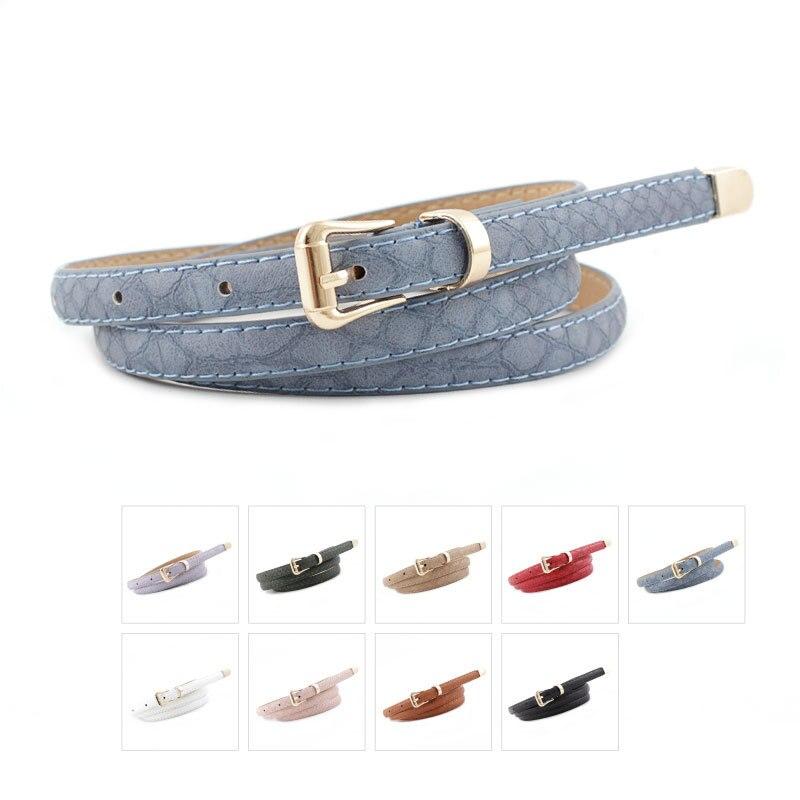 New Korean Fashion Wild Snake-shaped Pin Buckle Belt Women's Thin Belt Decoration Denim Casual Pants