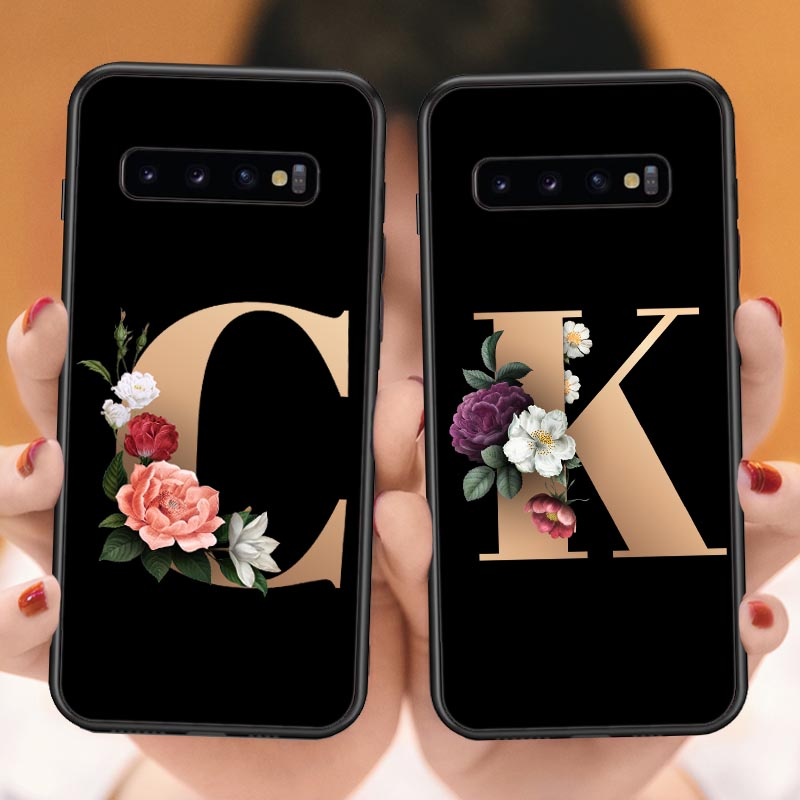Flowers name <font><b>Case</b></font> For <font><b>Samsung</b></font> S7 Edeg S8 S9 Plus Marble Soft TPU Cover Support Wireless Charging For <font><b>Samsung</b></font> S10 Lite S10 Plus image