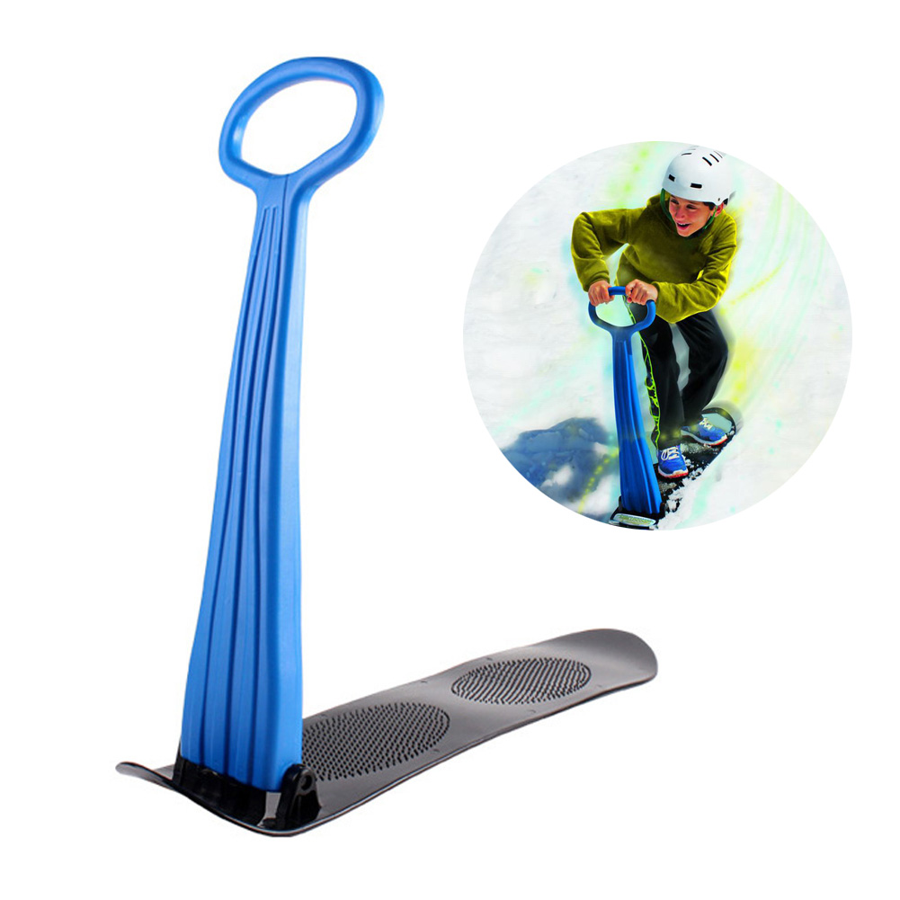 2019 New Folding Sliding Ski Snowboard Portable Skating Car Snow Sled Winter Outdoor Games With Grip Handle For Skiing Supplies