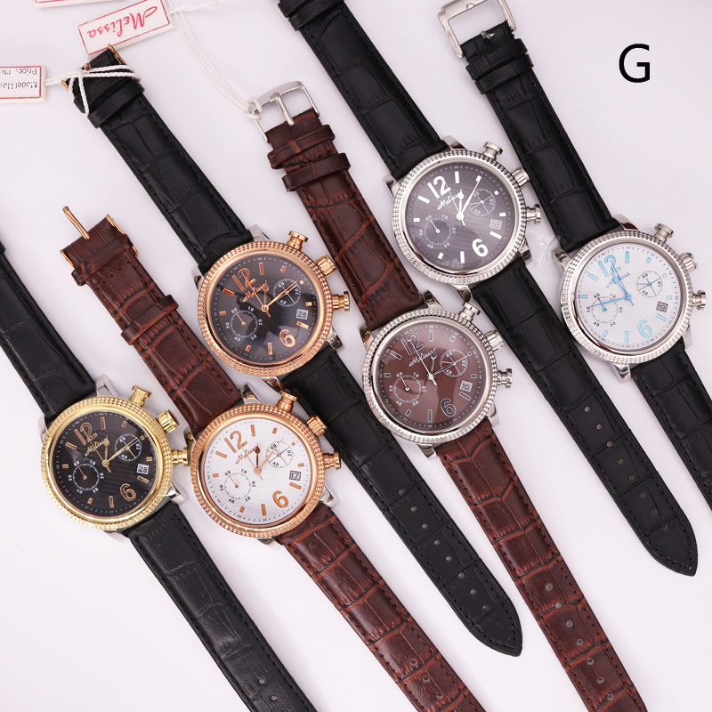 SALE!!! Discount Real Multi-function Men's Women's Watch All Stainless Steel Prong Setting Cubic Zircon Crystal Leather Bracelet