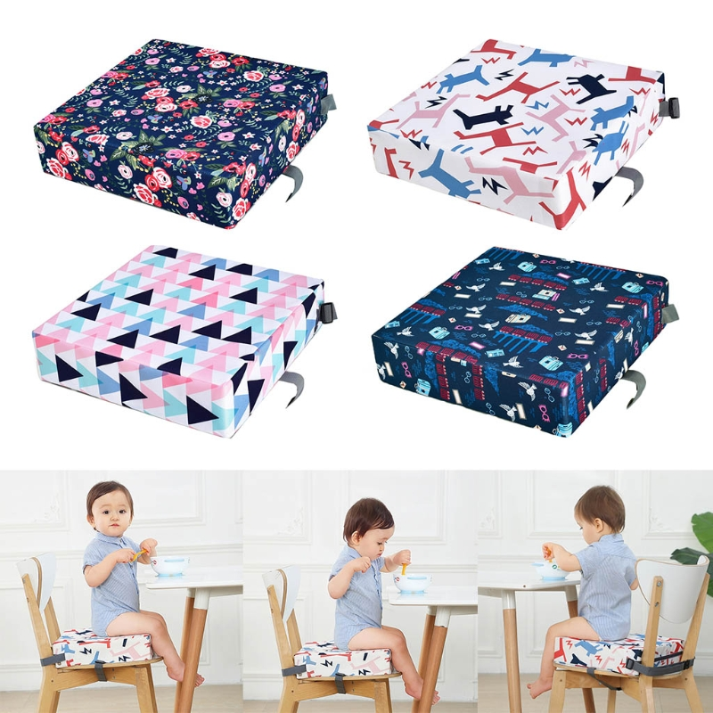 Children Increased Chair Pad Adjustable Removable Highchair Booster Baby Dining Seat Cushion