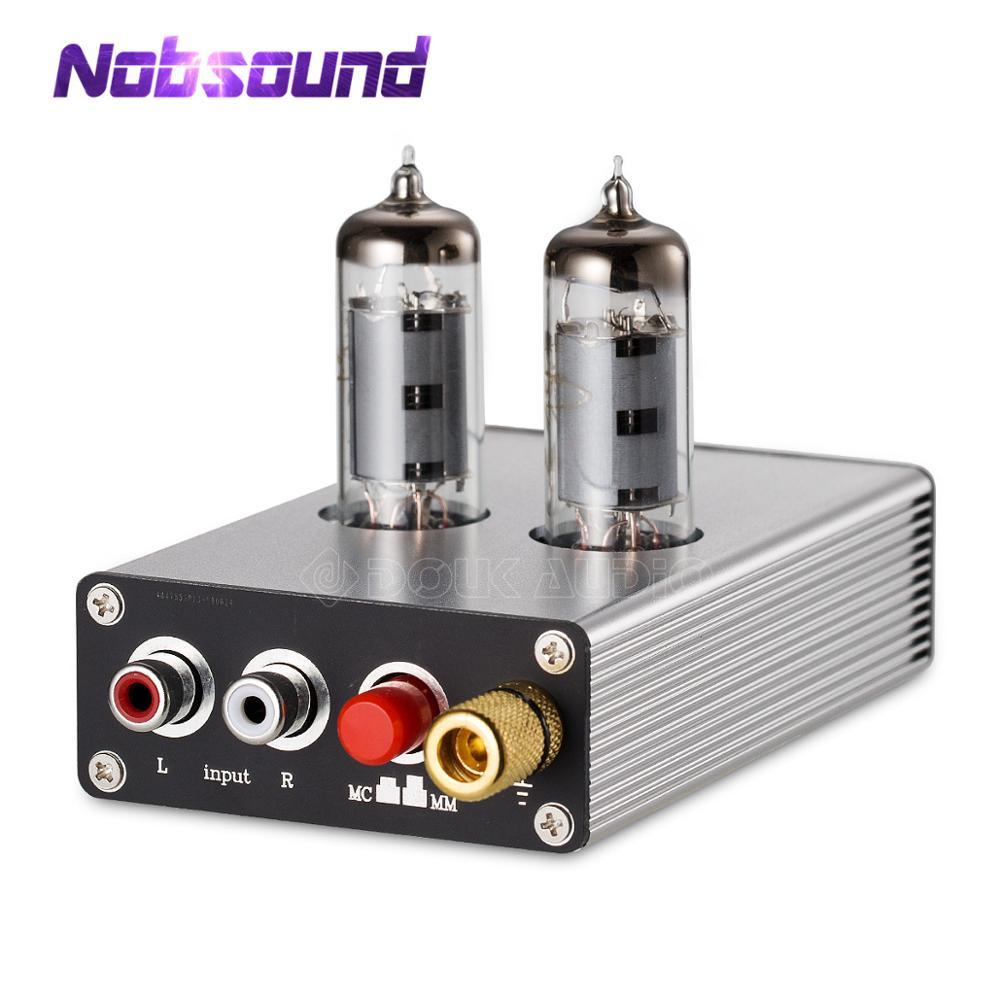 Nobsound HiFi 6K4 Tube à vide MM/MC préampli de scène Phono Mini platine vinyle préamplificateur Audio