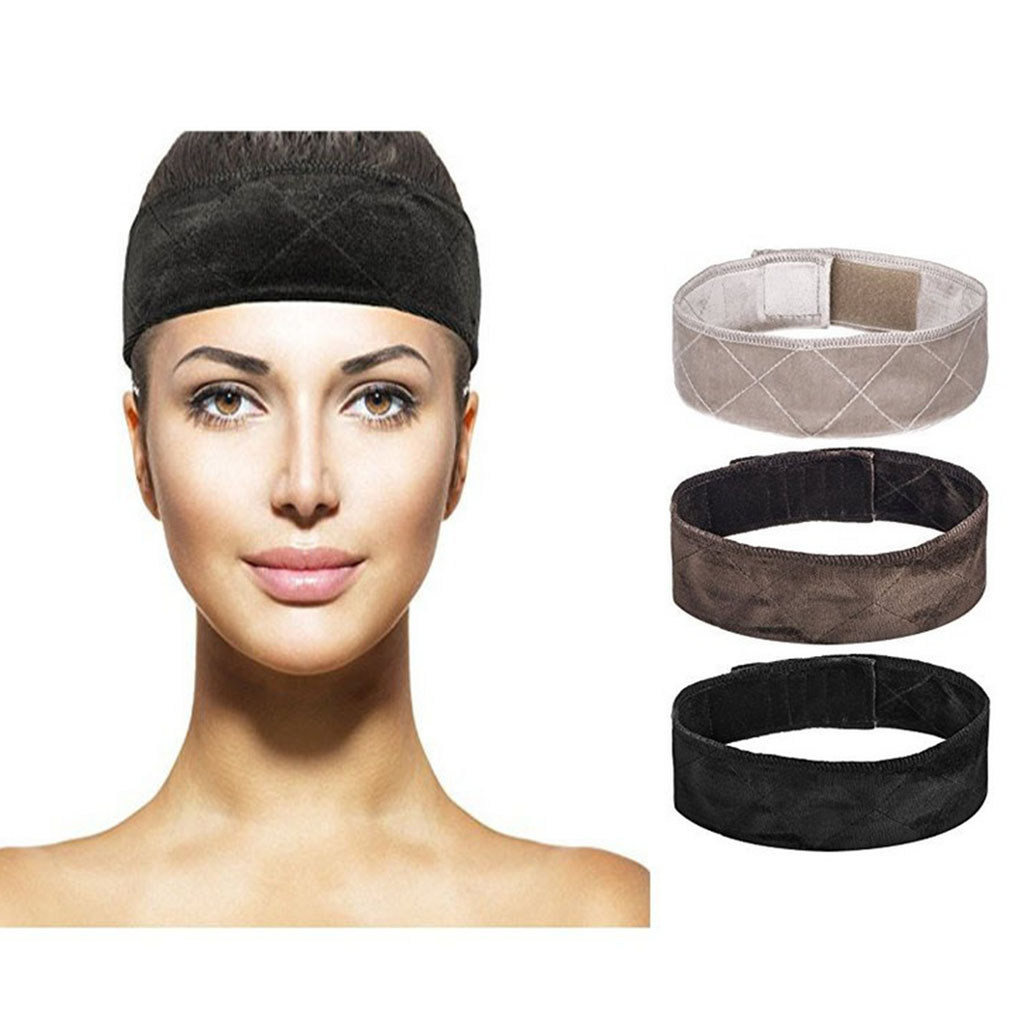 Self-adhesive Flexible Wig Grip Band Adjustable Wig Strap Artificial Hair Headband Scarf Accessories