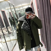 2019 New Japanese Winter Cotton Large Size Simple Loose Version Men's Clothing Thickening Alternative Wool Suit Collar Coat