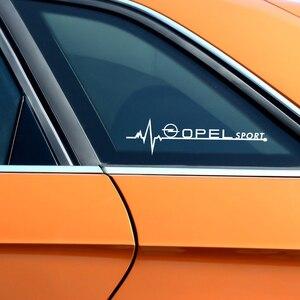 Image 5 - Autocollants de vitres latérales de voiture, pour Opel Astra H G J Insignia Mokka Zafira Corsa Vectra C D Antara, accessoires de voiture, emblème sportif, 2 pièces