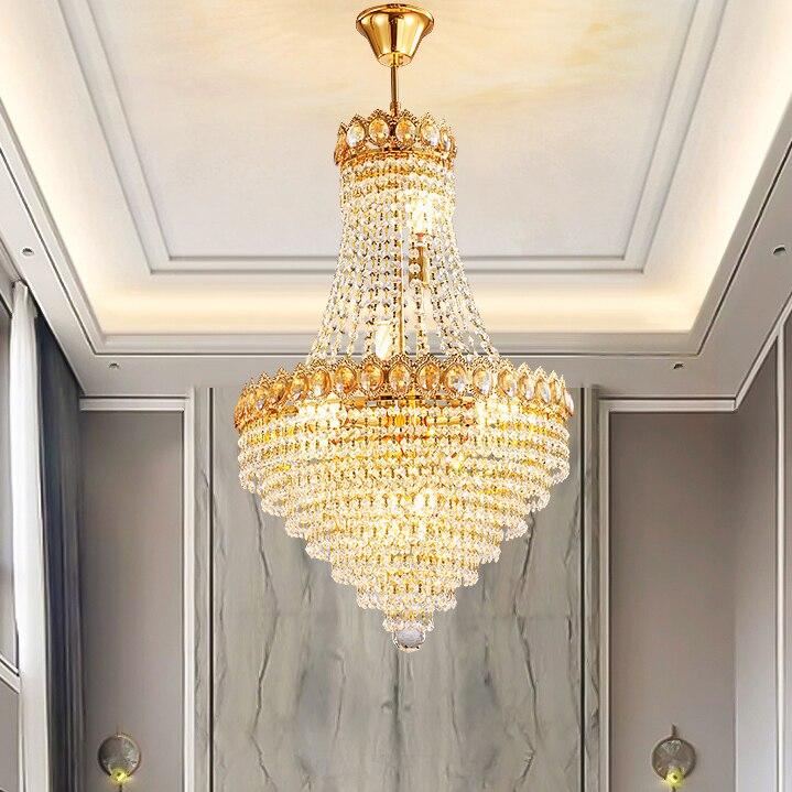 americano lustres de cristal dourado luzes luminaria 01