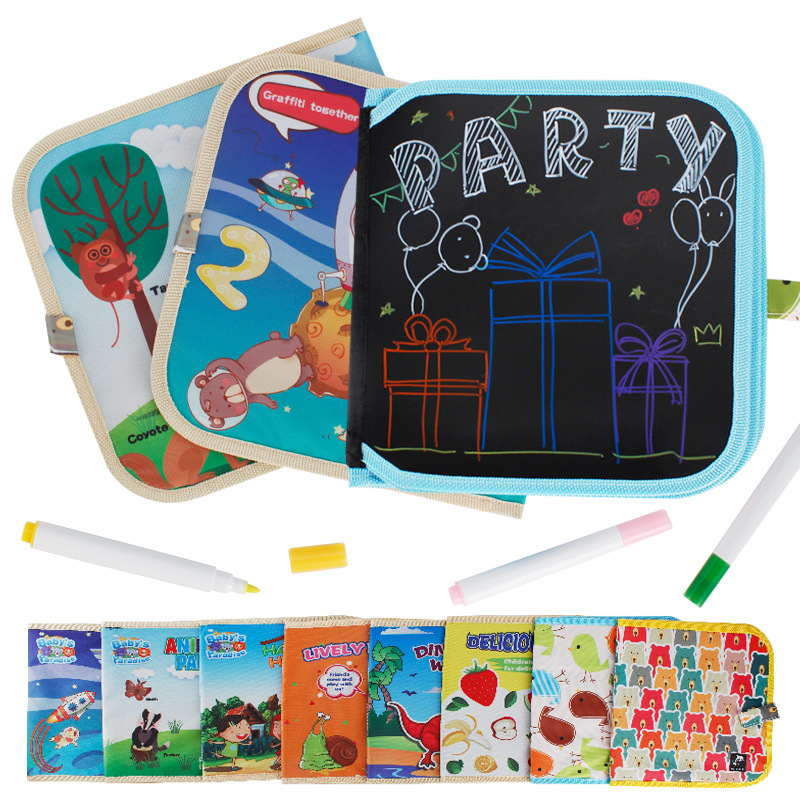 CHILD'S Drawing Book Magic Portable Small Blackboard Creative Graffiti This Gouache Pen Wipable Drawable Kindergarten Gift