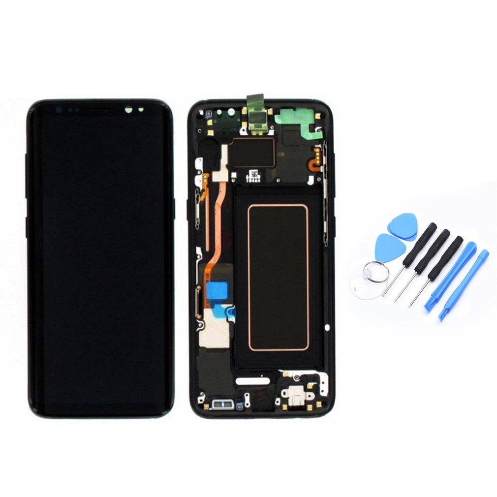 LCD Display Touch Screen Digitizer & Frame Replacement Parts Professional Universal Assembly for Samsung S8 S8 Plus Phones image