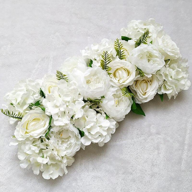 Искусственные пионы, розы, гортензии, ряды, свадебный фон, искусственные цветы, Украшение стен, «сделай сам», комбинированная свадебная комп...