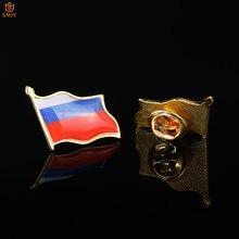 Русские ремесла Искусство Флаг значок брошь лацкан рюкзак/костюм