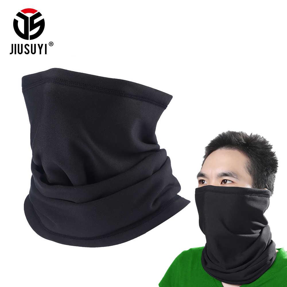 Черный цвет шеи гаитер шарф половина Бандана с изображением масок для лица флис