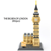 Wange 4211 The Big Ben of London World Famous Building Model DIY Educational Building Blocks Toys Collection For Children Gift