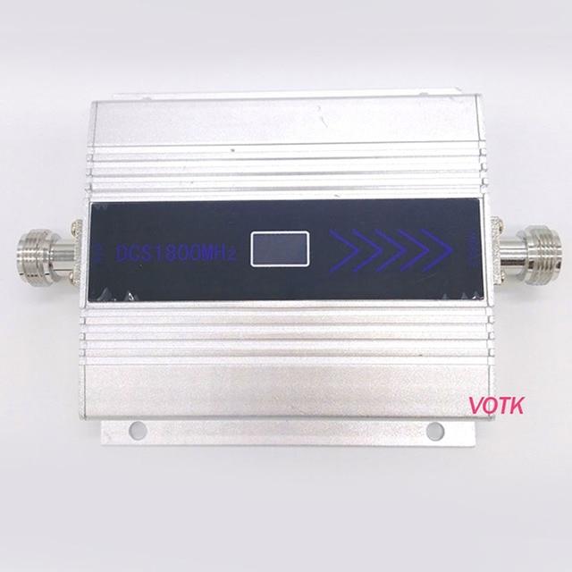 Novo votk 4g sinal repetidor celular 4g lte sinal impulsionador alto ganho 1800mhz 4g amplificador de sinal com adaptador de energia da ue