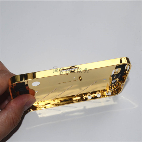 For Iphone 4g 4S Bezel 100% Real Gold Plated Bezel Gold Housing For Iphone4 4g 4S