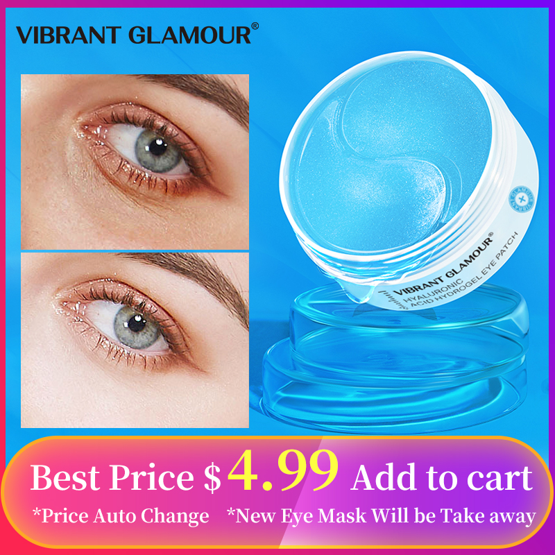 VIBRANT GLAMOUR Eye Mask Moisturizing Hyaluronic Acid Eye Patch Skin Care Collagen Anti Aging Gel Remove Dark Circles Eye Bag
