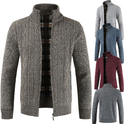 2019  Brand New Fashion Thick Sweaters Cardigan Coat Men Slim Fit Jumpers Knit Zipper Warm Winter Business Style Men Clothes 6