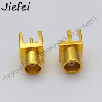 3Pcs MCX female straigh Jack RF Coaxial Connector Adapter for PCB mount / Edge PCB Mount End image