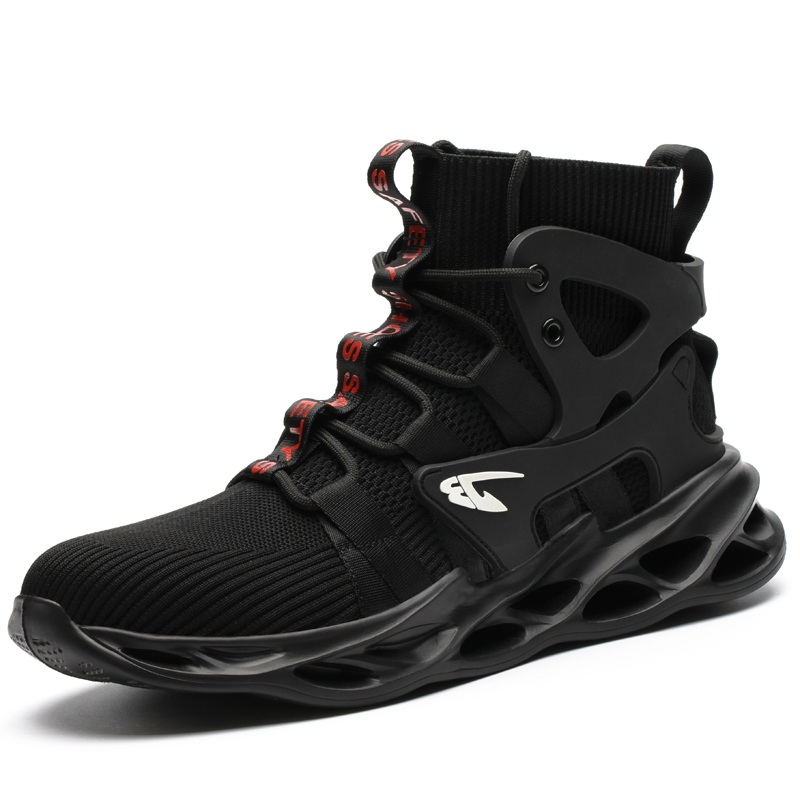 2021 Male Work Boots Indestructible Safety Shoes Men Steel Toe Shoes Puncture-Proof Work Sneakers Male Shoes Adult Work Shoes 2