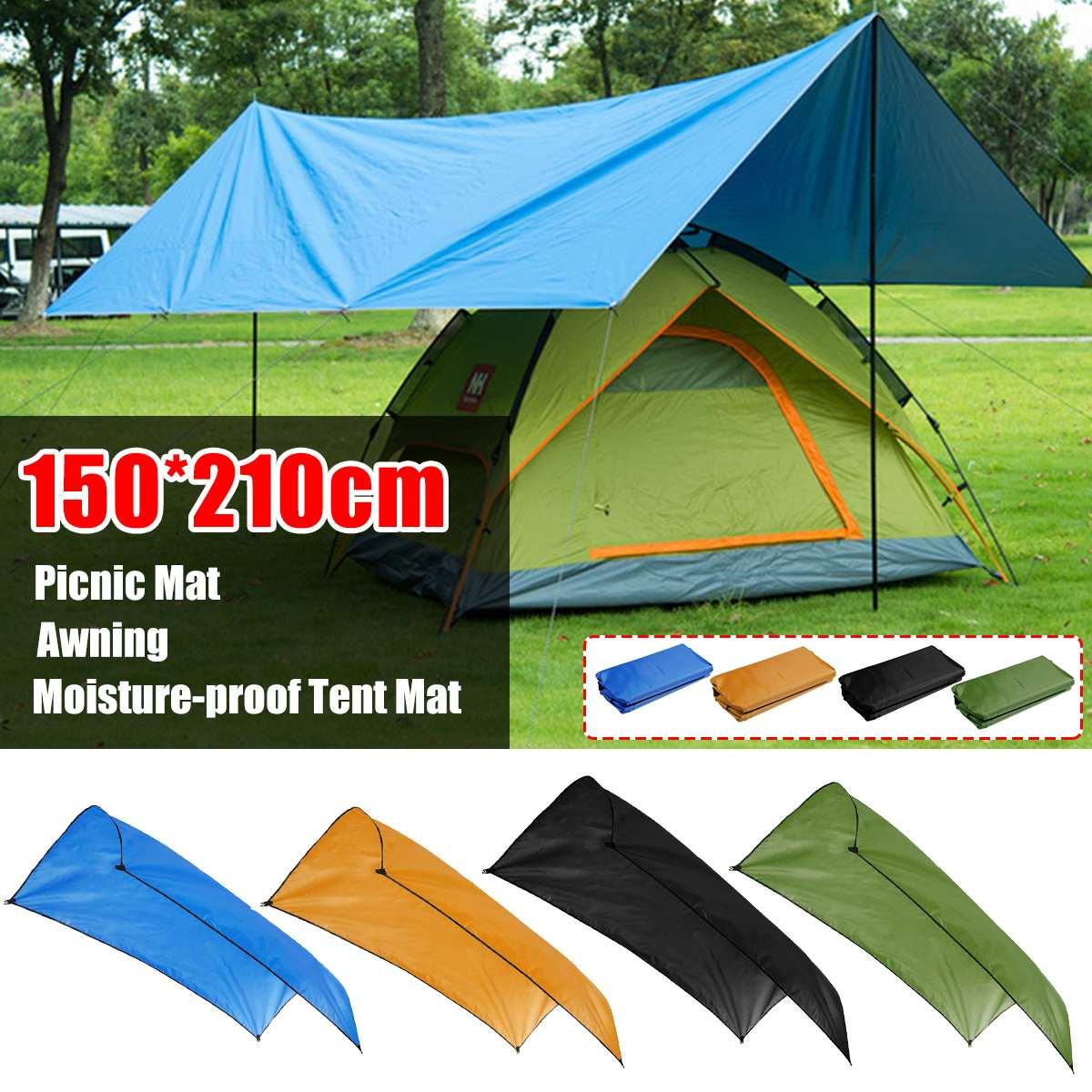 150x210cm 210d waterproof tarp camping climbing outdoor tent patio beach sun shade awning canopy garden tent shade moistureproof