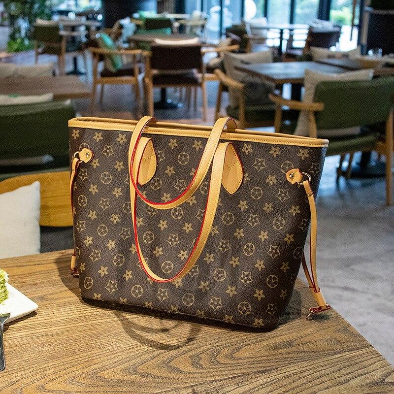 Lu Home WOMEN'S Bag Messenger Bag 2020 Presbyopia Big Brand Fashion WOMEN'S Bag Hand Casual Shopping Large Bag Tote Bag