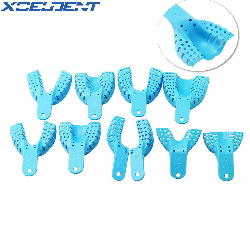 10pcs Plastic Dental Impression Trays Central Supply Teeth Holder Durable For Teeth Tools Dentistry Tools