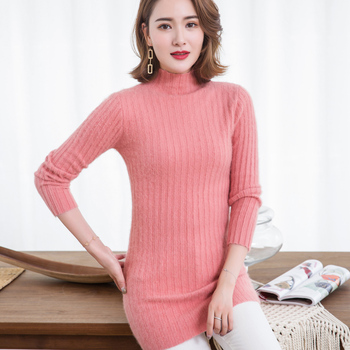 Super Warm Pure Mink Cashmere Sweaters and Pullovers Women Winter High Elasticity Soft Sweater Turtleneck Female Long Sweater thick warm women turtleneck 2020 winter women cashmere sweaters and pullovers knit long sleeve wool sweater female jumper