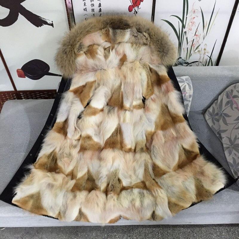 Black Long Shell Unique Coyote Real Fur Luxurious Grace Desgin Men Winter Jacket