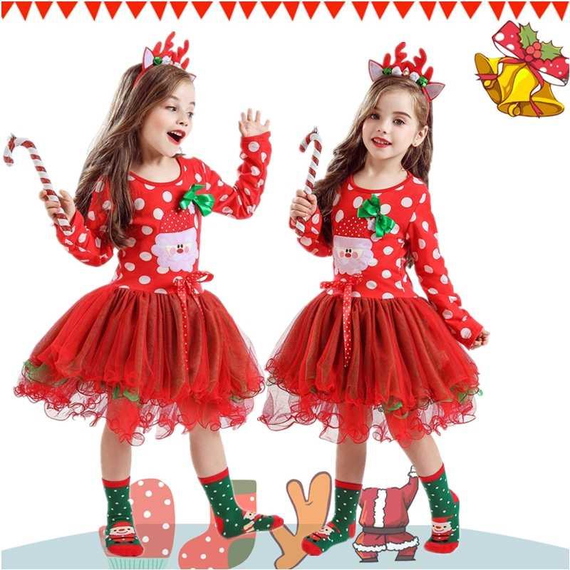 Vestido De Navidad Para Niñas Pequeñas Niñas Año Nuevo